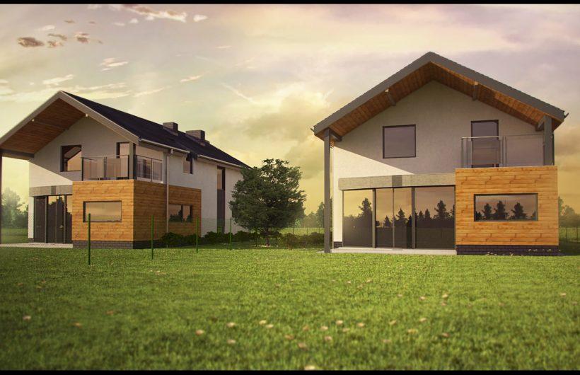 Dwa domy jednorodzinne wolnostojące w Katowicach