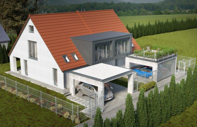 Dwa domy jednorodzinne w zabudowie bliźniaczej w Zabierzowie